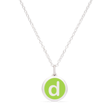 MINI INITIAL 'd' CHARM sterling silver with rhodium plate