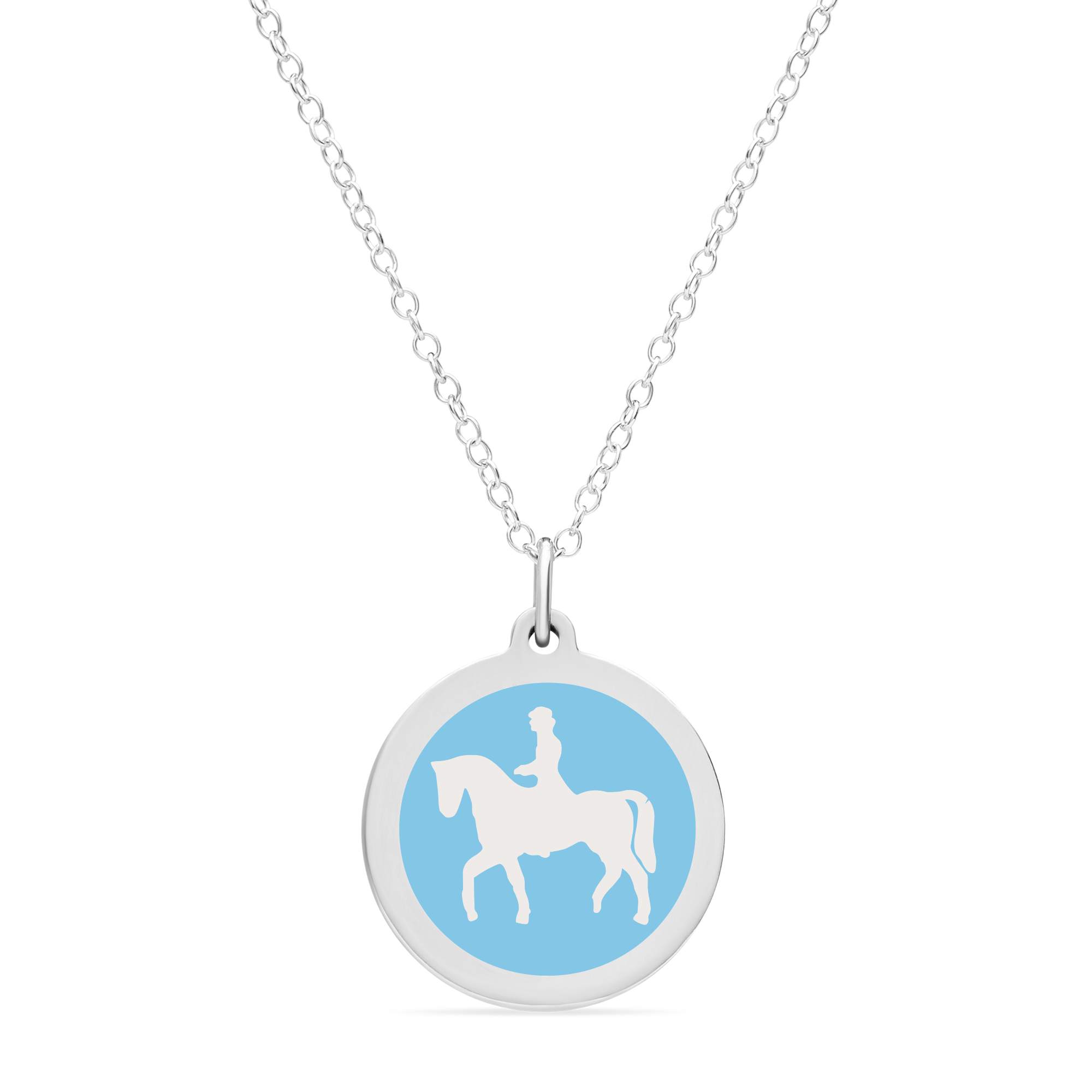 LARGE DRESSAGE CHARM sterling silver with rhodium plate