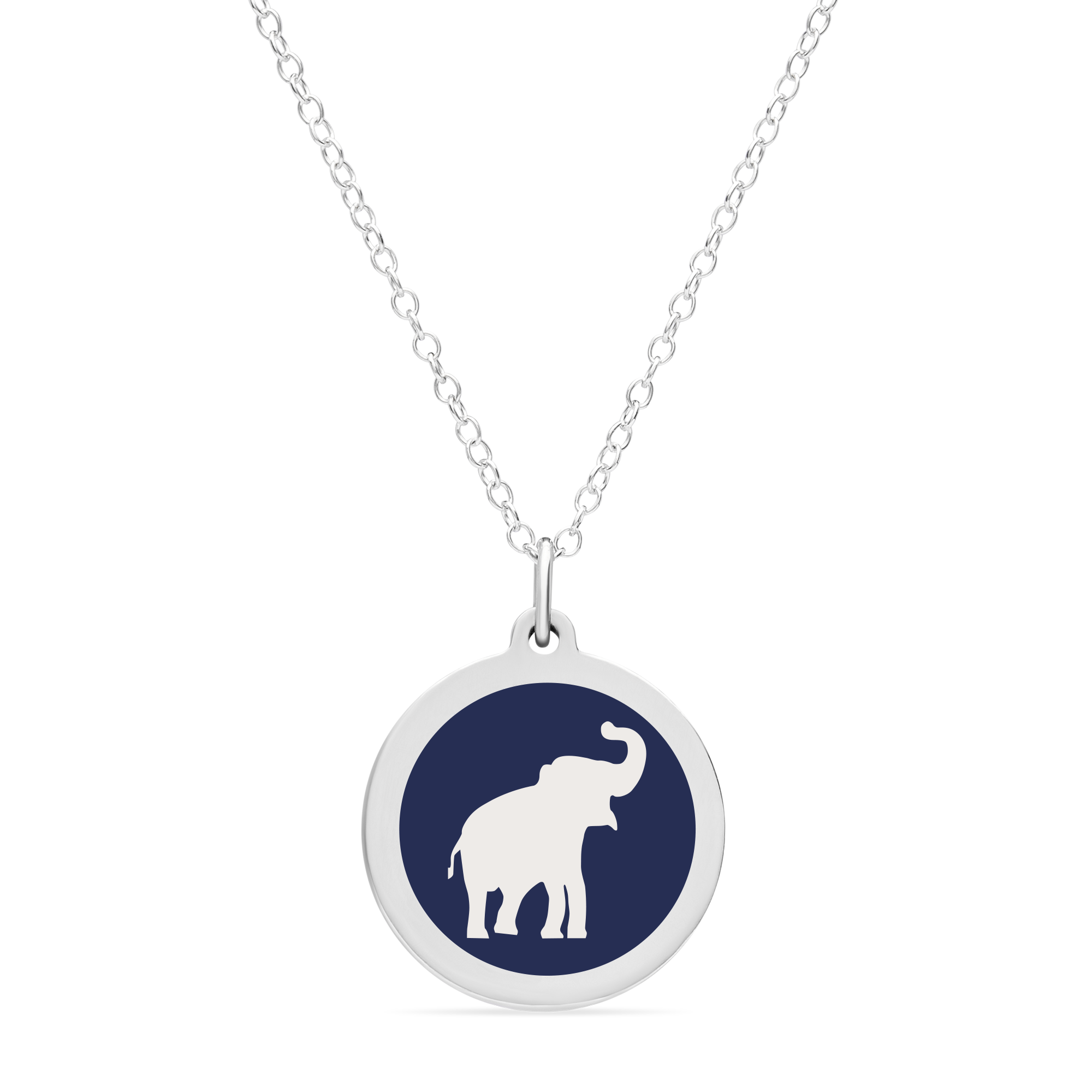 ORIGINAL ELEPHANT CHARM in sterling silver with rhodium plate