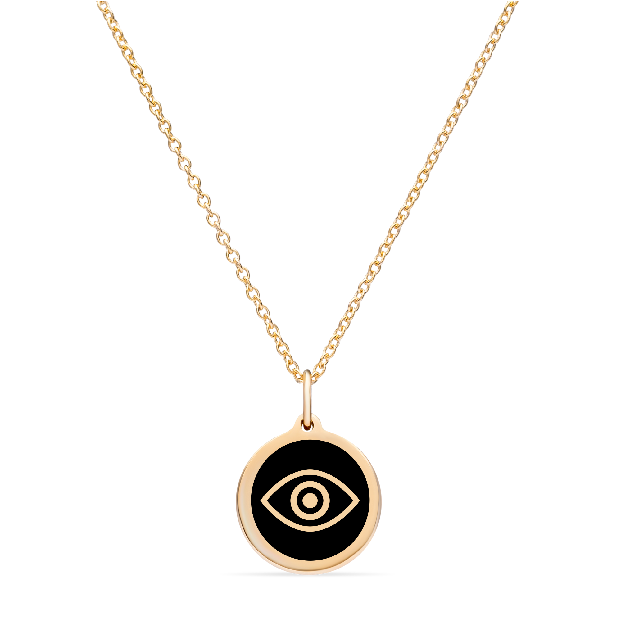 MINI EVIL EYE CHARM 14k gold vermeil