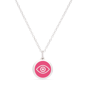 MINI EVIL EYE CHARM sterling silver with rhodium plate
