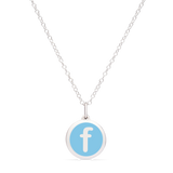 MINI INITIAL 'f' CHARM sterling silver with rhodium plate