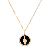 MINI LET'S F CANCER CHARM 14k gold vermeil