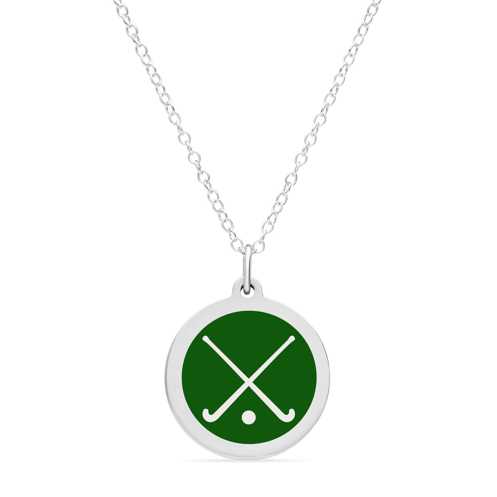 ORIGINAL FIELD HOCKEY CHARM in sterling silver with rhodium plate