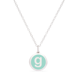 MINI INITIAL 'g' CHARM sterling silver with rhodium plate