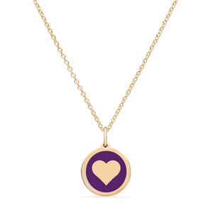 MINI HEART CHARM 14k gold vermeil
