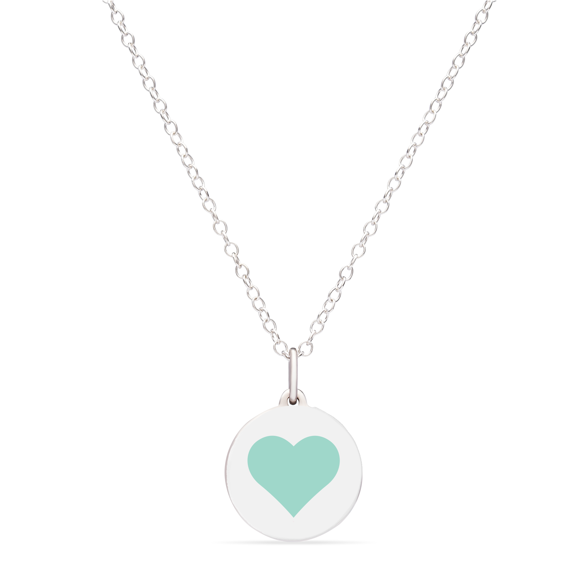 MINI REVERSE HEART CHARM sterling silver with rhodium plate