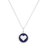 MINI HEART CHARM sterling silver with rhodium plate