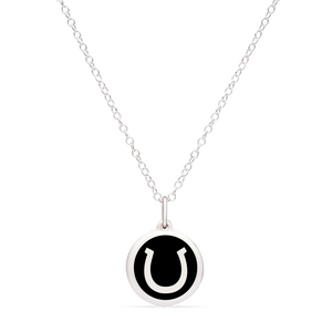 MINI HORSESHOE CHARM sterling silver with rhodium plate