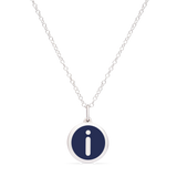 MINI INITIAL 'i' CHARM sterling silver with rhodium plate
