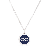 MINI INFINITY CHARM sterling silver with rhodium plate
