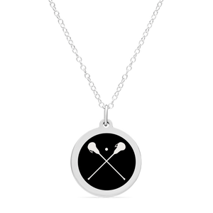 ORIGINAL LACROSSE CHARM in sterling silver with rhodium plate