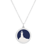 ORIGINAL LIGHTHOUSE CHARM in sterling silver with rhodium plate