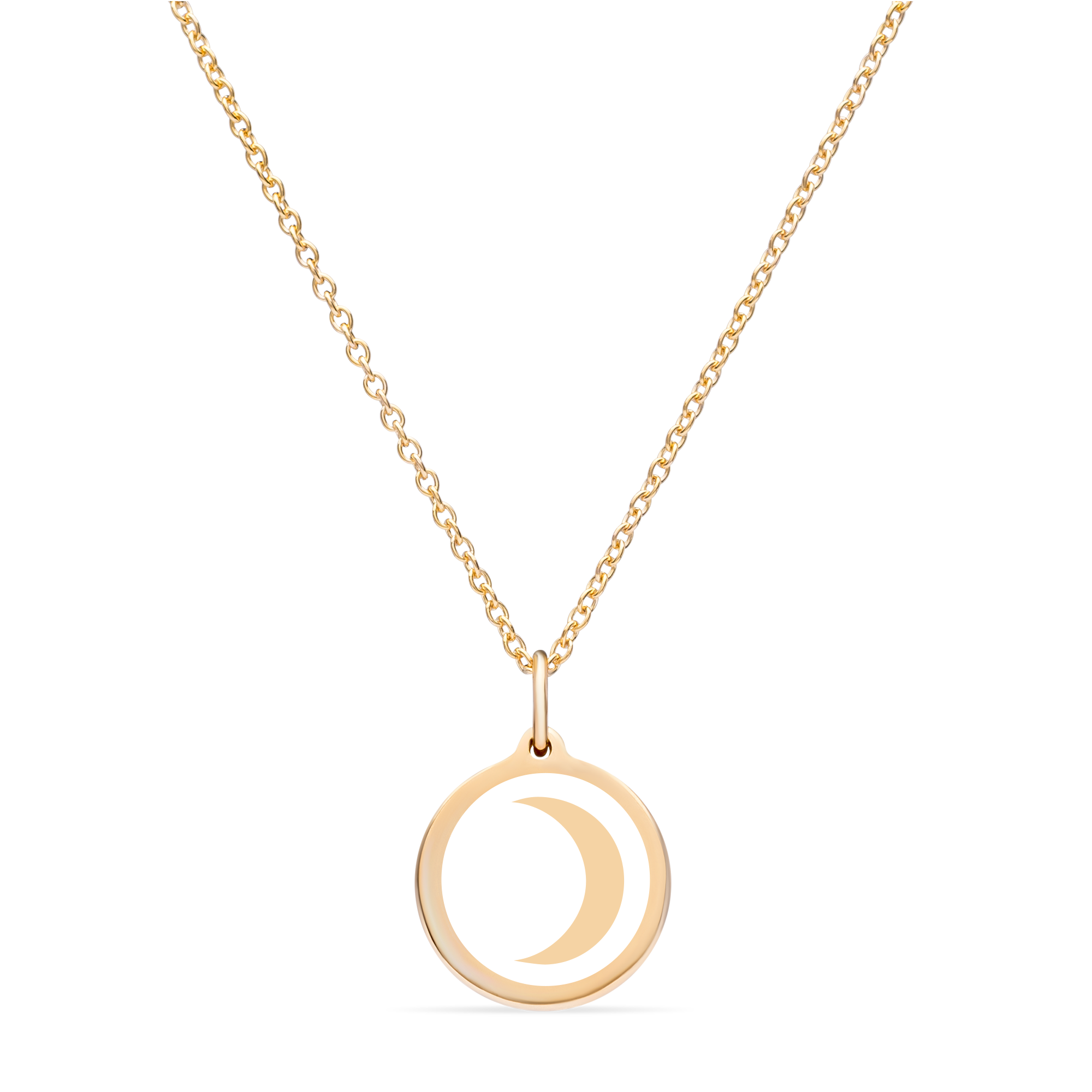 MINI MOON CHARM 14k gold vermeil