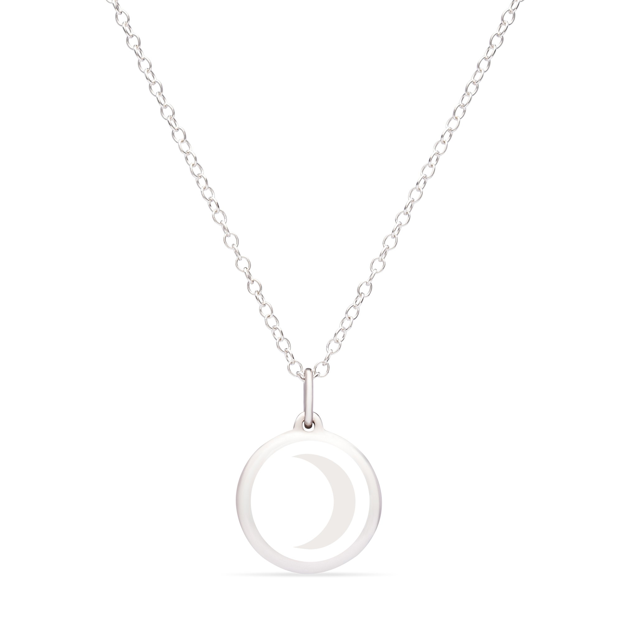 MINI MOON CHARM sterling silver with rhodium plate