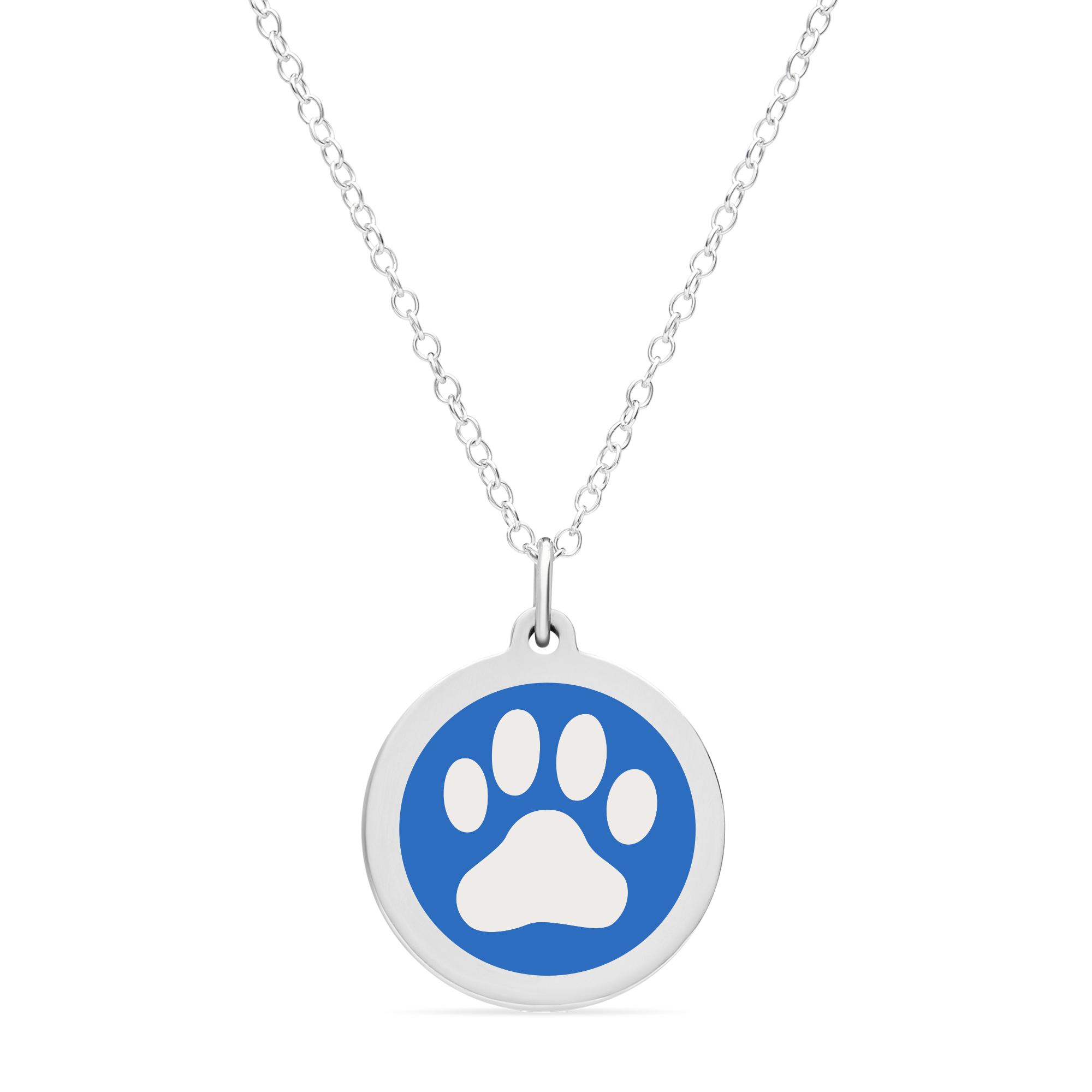 ORIGINAL PAW PRINT CHARM in sterling silver with rhodium plate