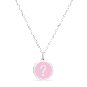 MINI QUESTION MARK CHARM sterling silver with rhodium plate