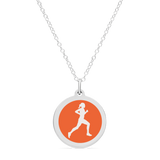 ORIGINAL RUNNER CHARM in sterling silver with rhodium plate