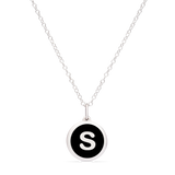 MINI INITIAL 's' CHARM sterling silver with rhodium plate