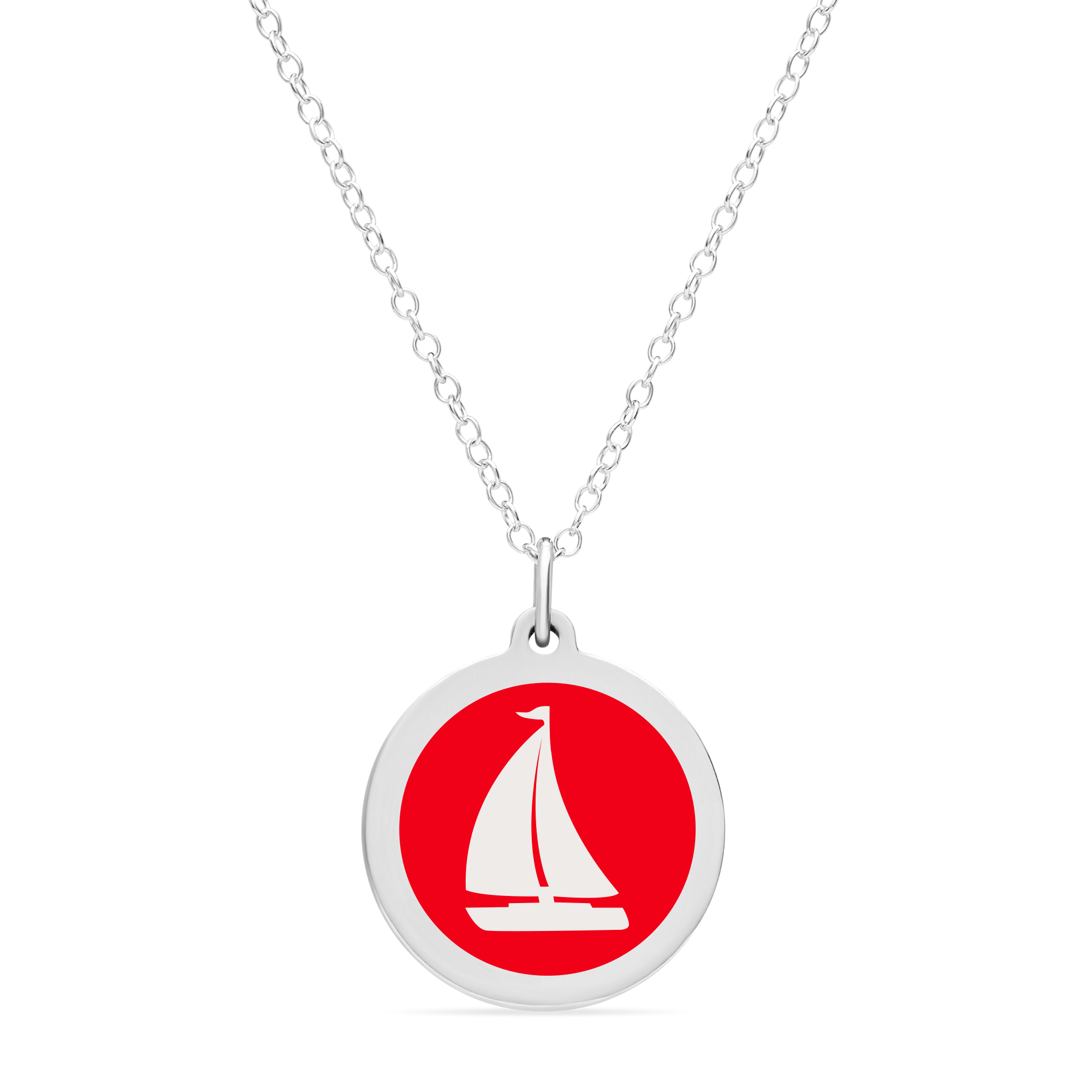 ORIGINAL SAILBOAT CHARM sterling silver with rhodium plate