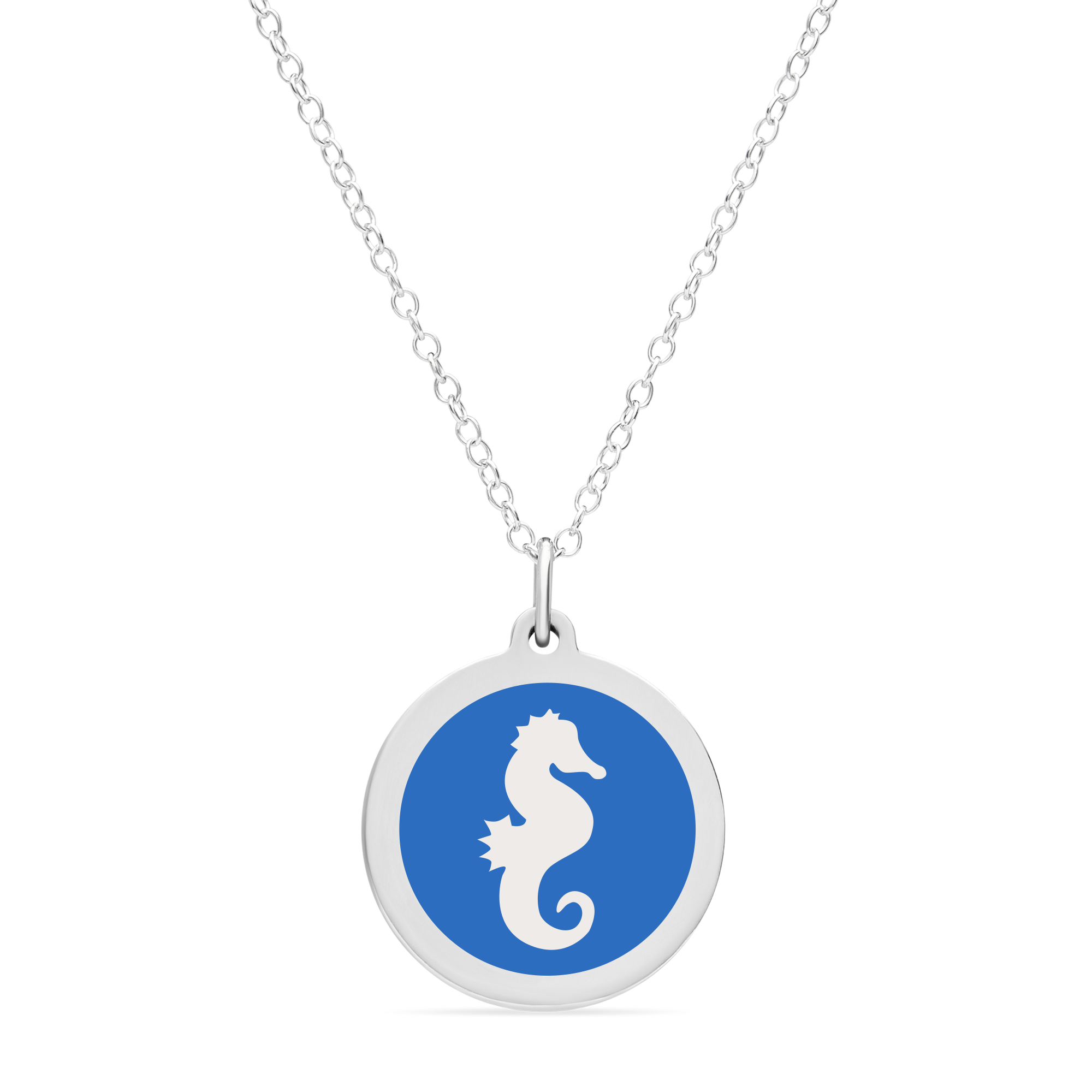 ORIGINAL SEAHORSE CHARM in sterling silver with rhodium plate