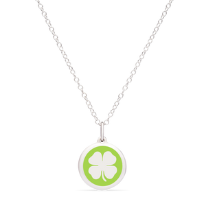 MINI CLOVER CHARM sterling silver with rhodium plate