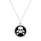 ORIGINAL SKULL CHARM in sterling silver with rhodium plate