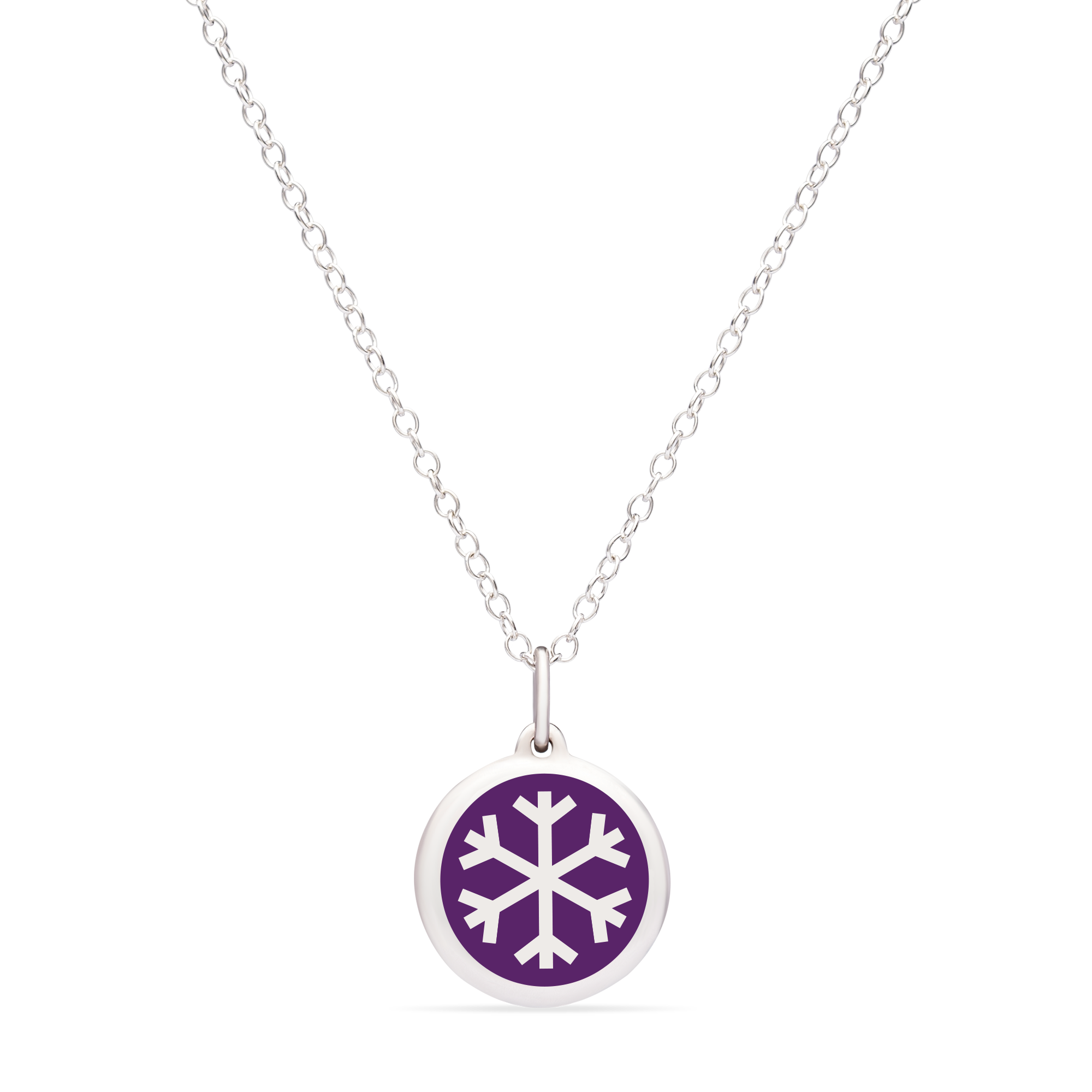 MINI SNOWFLAKE CHARM sterling silver with rhodium plate