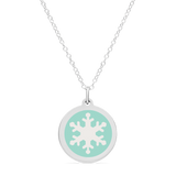 ORIGINAL SNOWFLAKE CHARM in sterling silver with rhodium plate