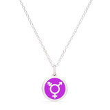 ALL-INCLUSIVE GENDER SYMBOL in sterling silver with rhodium plate