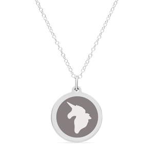 ORIGINAL UNICORN CHARM in sterling silver with rhodium plate