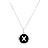 MINI INITIAL 'x' CHARM sterling silver with rhodium plate
