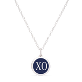 MINI XO CHARM sterling silver with rhodium plate