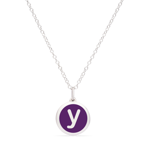 MINI INITIAL 'y' CHARM sterling silver with rhodium plate