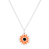 MINI BLACK EYED SUSAN CHARM sterling silver with rhodium plate
