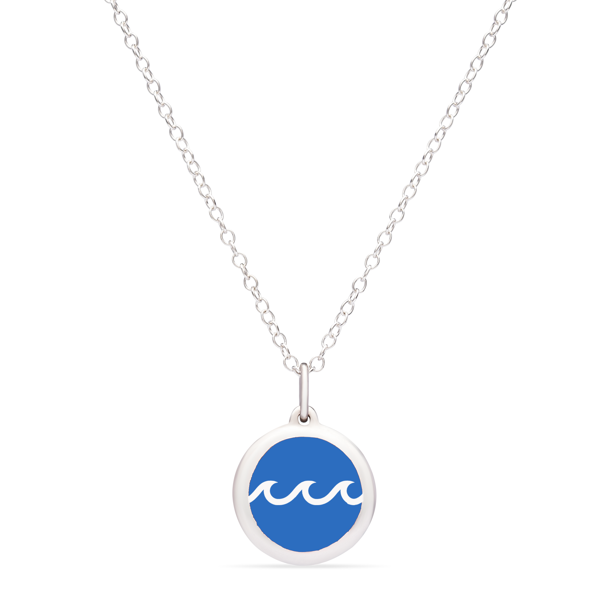 BLUE WAVE CHARM sterling silver with rhodium plate