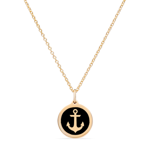 MINI ANCHOR CHARM 14k gold vermeil