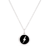 MINI LIGHTNING BOLT CHARM sterling silver with rhodium plate
