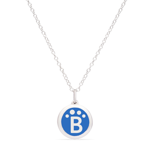 MINI BLUEPATH CHARM sterling silver with rhodium plate