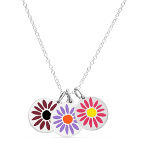 NEW BOUQUET NECKLACE sterling silver with rhodium plate