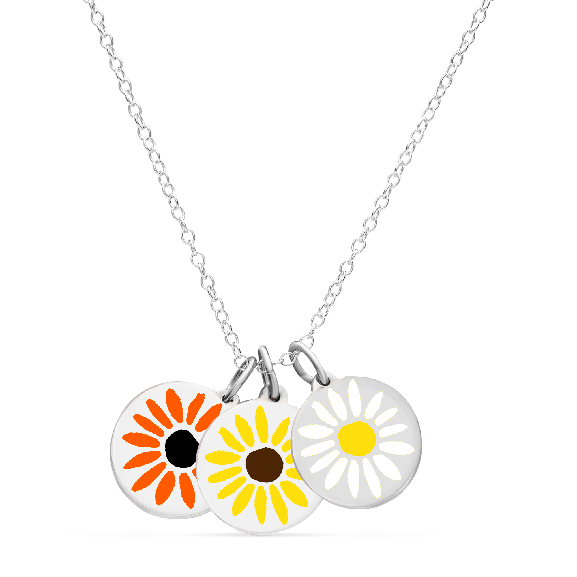 BOUQUET NECKLACE sterling silver with rhodium plate