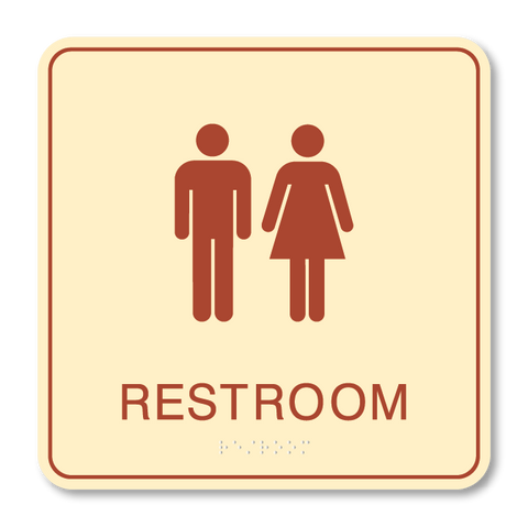 Primary - Restroom  (Antique Ivory & Canyon)