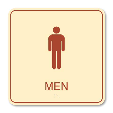 Primary - Restroom Men  (Antique Ivory & Canyon)