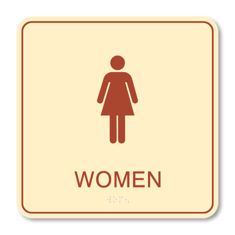 Primary - Restroom Women (Antique Ivory & Canyon)