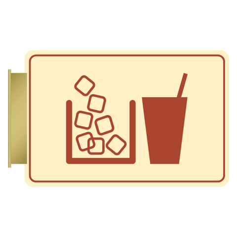 Primary - Flag ID Ice/Vending  (Antique Ivory & Canyon)