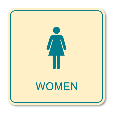 Primary - Restroom Women (Antique Ivory & Teal)