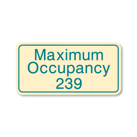 Primary - Maximum Occupancy  (Antique Ivory & Teal)