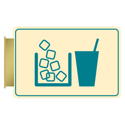 Primary - Flag ID Ice/Vending  (Antique Ivory & Teal)
