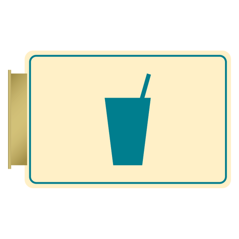 Primary - Flag ID Vending  (Antique Ivory & Teal)