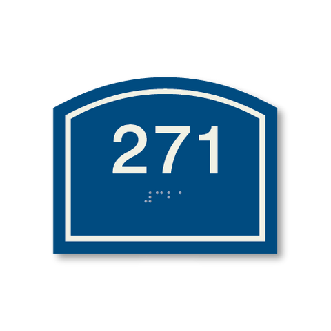 Primary - Arch  Room Number  (Blue & Ash)